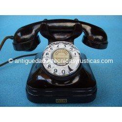 TELEFONO BAQUELITA COLOR BURDEOS