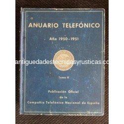 ANUARIO TELEFONICO AÑO 1950 - 1951