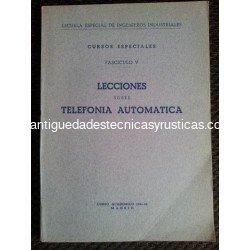 LECCIONES SOBRE TELEFONIA AUTOMATICA 1942