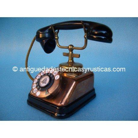 TELEFONO ANTIGUO DANÉS DE SOBREMESA AÑOS 30 EN COBRE