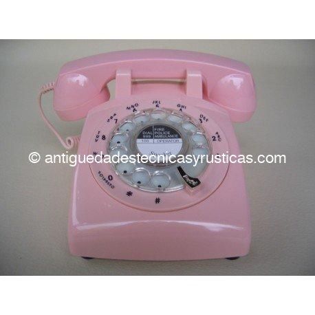 TELEFONO ROSA TIPO ANTIGUO