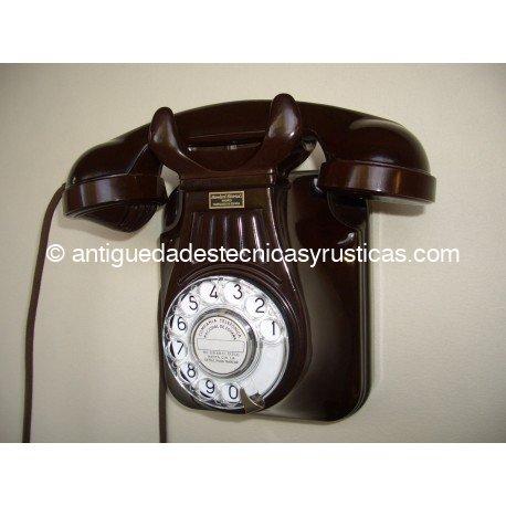 TELEFONO STANDARD ELECTRICA, S.A. BAQUELITA MARRON