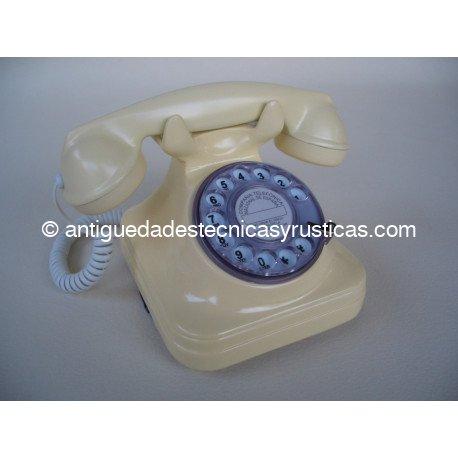TELEFONO BEIGE TIPO ESPAÑOL ANTIGUO