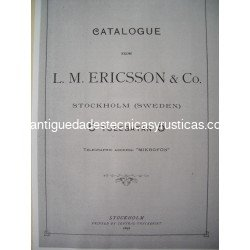 3ª EDICION CATALOGO 1892 L.M. Ericsson & Co, Stockholm