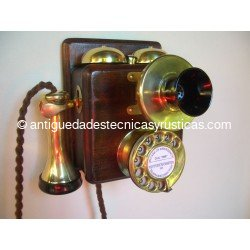 TELEFONO ANTIGUO INGLES 1910 DE PARED