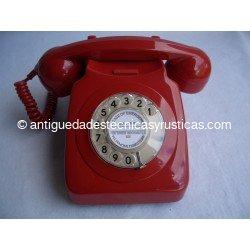TELEFONO ANTIGUO ROJO INGLES AÑOS 70