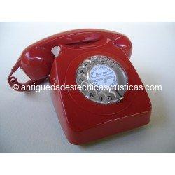 TELEFONO ROJO INGLES DE SOBREMESA AÑOS 70