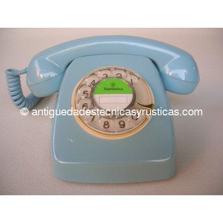 TELEFONO AZUL ESPAÑOL AÑOS 70 DE SOBREMESA