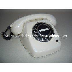 TELEFONO ANTIGUO HERALDO BLANCO AÑOS 70