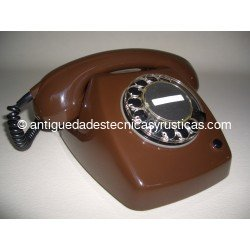 TELEFONO ANTIGUO MARRON CHOCOLATE AÑOS 70