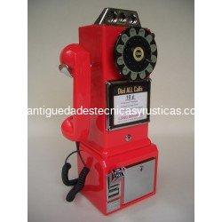 TELEFONO AMERICANO DE MONEDAS TIPO ANTIGUO