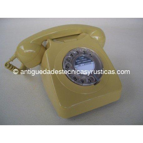 TELEFONO AMARILLO INGLES DE SOBREMESA AÑOS 70