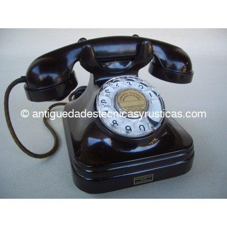 TELEFONO BAQUELITA ESPAÑOL AÑOS 50 CTNE