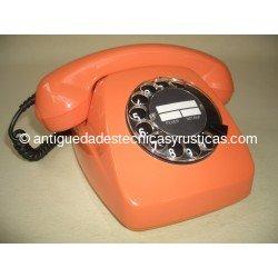 TELEFONO ANTIGUO HERALDO COLOR SALMON AÑOS 70