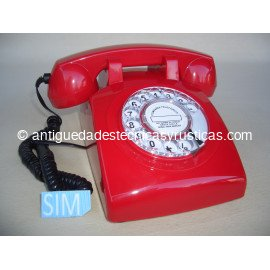 TELEFONO MOVIL RETRO GSM ROJO DE SOBREMESA