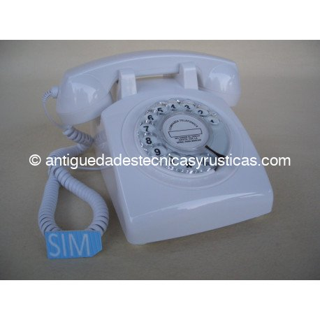 TELEFONO MOVIL RETRO GSM BLANCO DE SOBREMESA