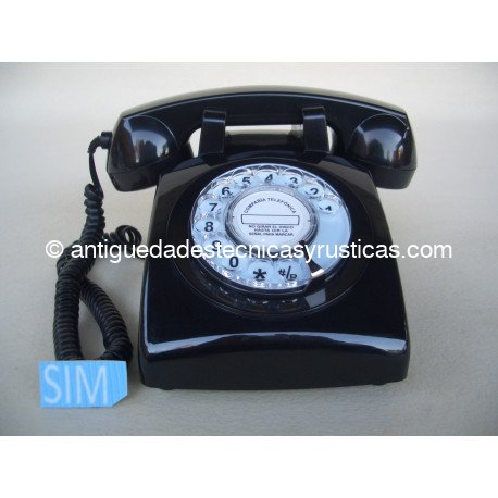 TELEFONO MOVIL RETRO GSM NEGRO DE SOBREMESA