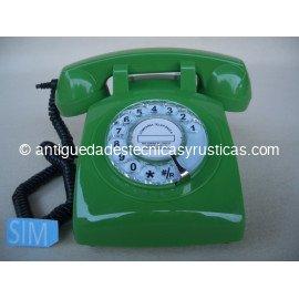 TELEFONO MOVIL RETRO GSM VERDE DE SOBREMESA