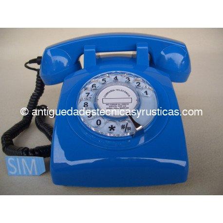 TELEFONO MOVIL RETRO GSM AZUL DE SOBREMESA