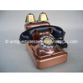 TELEFONO ANTIGUO DE COBRE AÑOS 40