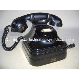 TELEFONO ESPAÑOL MAGNETO DE SOBREMESA AÑOS 50