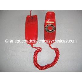 TELEFONO GONDOLA ROJO DE SOBREMESA AÑOS 70