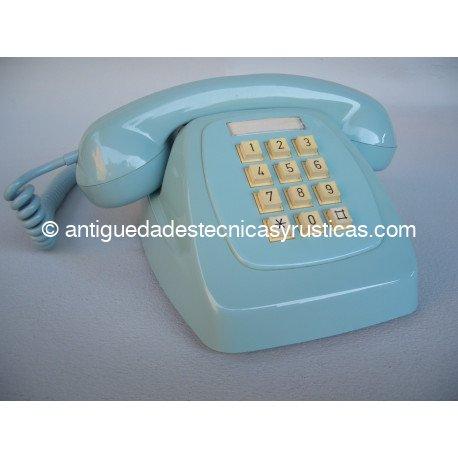 TELEFONO AZUL ESPAÑOL TECLADO AÑOS 70