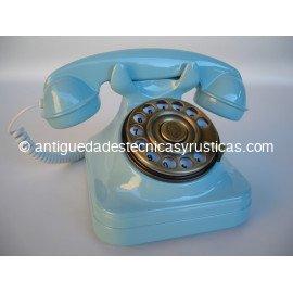 TELEFONO AZUL TIPO ESPAÑOL ANTIGUO