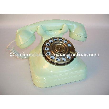 TELEFONO VERDE TIPO ESPAÑOL ANTIGUO