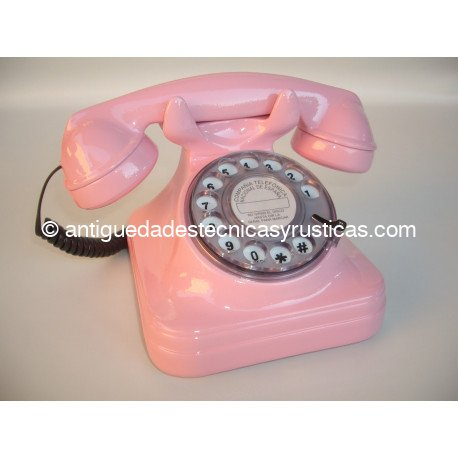 TELEFONO ROSA TIPO ESPAÑOL ANTIGUO