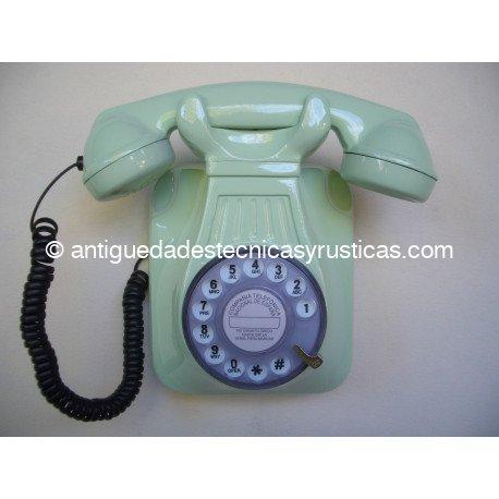 TELEFONO VERDE DE PARED TIPO ESPAÑOL ANTIGUO