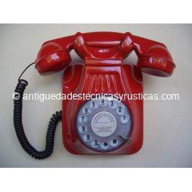 TELEFONO ROJO DE PARED TIPO ESPAÑOL ANTIGUO