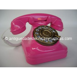 TELEFONO FUCSIA TIPO ESPAÑOL ANTIGUO