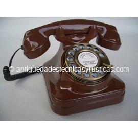 TELEFONO MARRON TIPO ESPAÑOL ANTIGUO