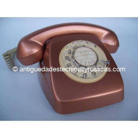 TELEFONO HERALDO COBRE ESPAÑOL AÑOS 70