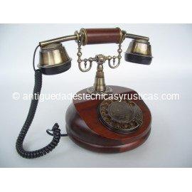 TELEFONO EN MADERA TIPO ANTIGUO
