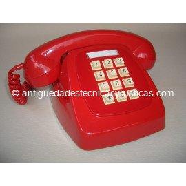 TELEFONO ROJO ESPAÑOL TECLADO AÑOS 70