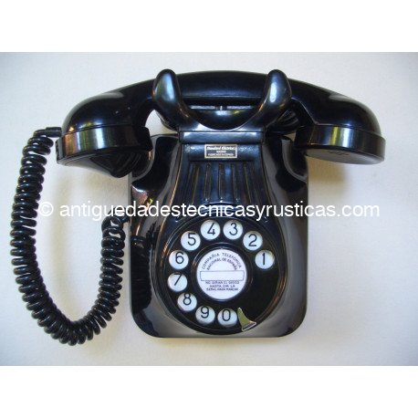 TELEFONO PARED BAQUELITA AÑOS 50