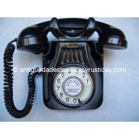 TELEFONO ANTIGUO ESPAÑOL DE PARED AÑOS 50
