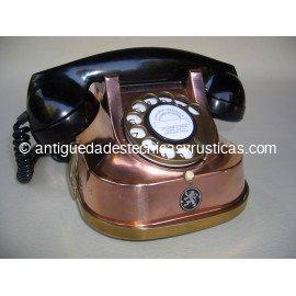 TELEFONO ANTIGUO DE COBRE AÑOS 40/50
