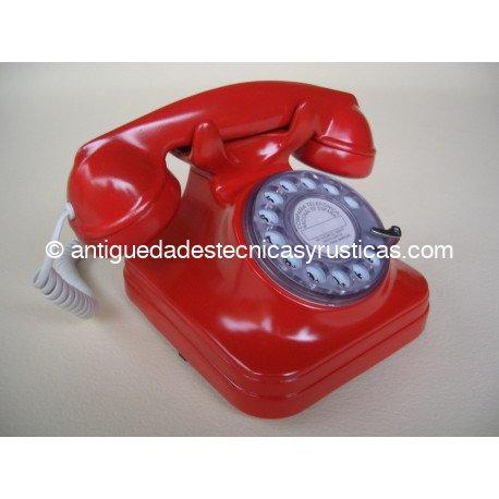 TELEFONO ROJO TIPO ESPAÑOL ANTIGUO