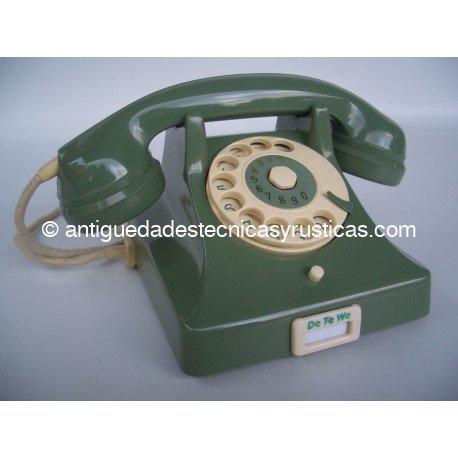 TELEFONO EN BAQUELITA VERDE AÑOS 50