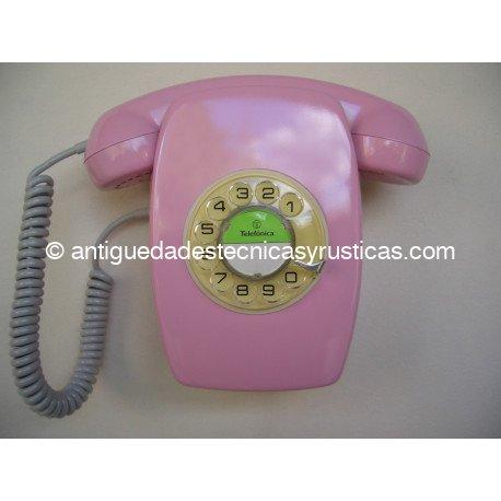 TELEFONO HERALDO ROSA ESPAÑOL AÑOS 70 PARED
