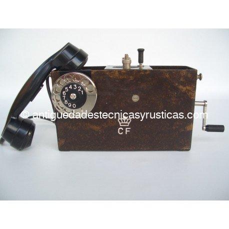 TELEFONO MILITAR MAGNETO AÑOS 40 EN BAQUELITA