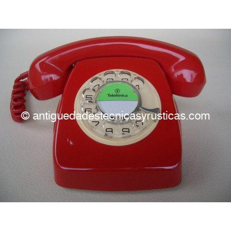 TELEFONO ANTIGUO HERALDO ROJO ESPAÑOL AÑOS 70