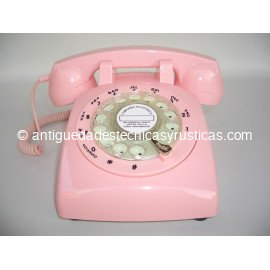 TELEFONO ROSA TIMBRE DE CAMPANA