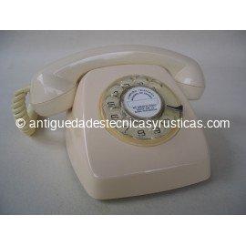 TELEFONO BEIGE ESPAÑOL AÑOS 70 DE SOBREMESA