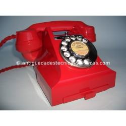 TELEFONO ANTIGUO BAQUELITA ROJA AÑOS 40
