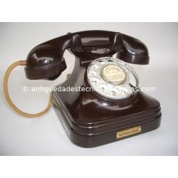TELEFONO ANTIGUO BAQUELITA MARRON SERVICIO DE COMUNICACIONES OFICIALES