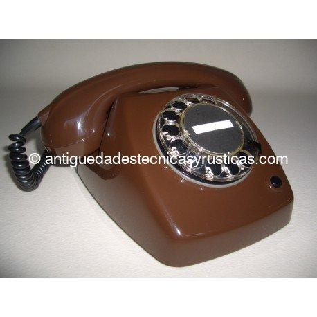 TELEFONO ANTIGUO MARRON CHOCOLATE AÑOS 70